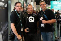 """Michael und Neufi mit dem Geschäftsführer von """"camera rescue"""""""