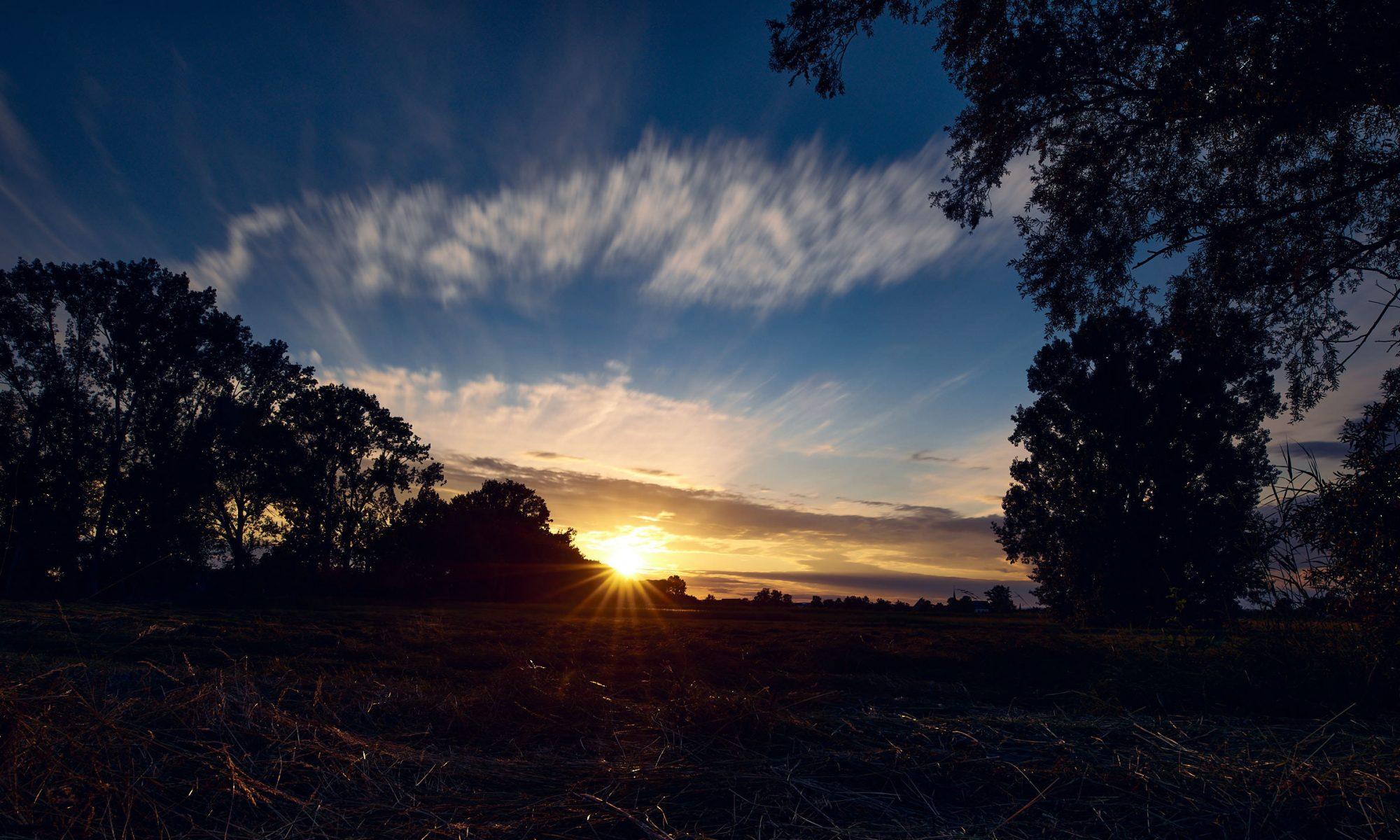Sonnenuntergang ohne Pumpe