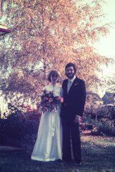 Birgit: Hochzeitsbild der Eltern (Farbe)