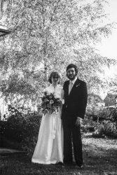 Birgit: Hochzeitsbild der Eltern (SW)